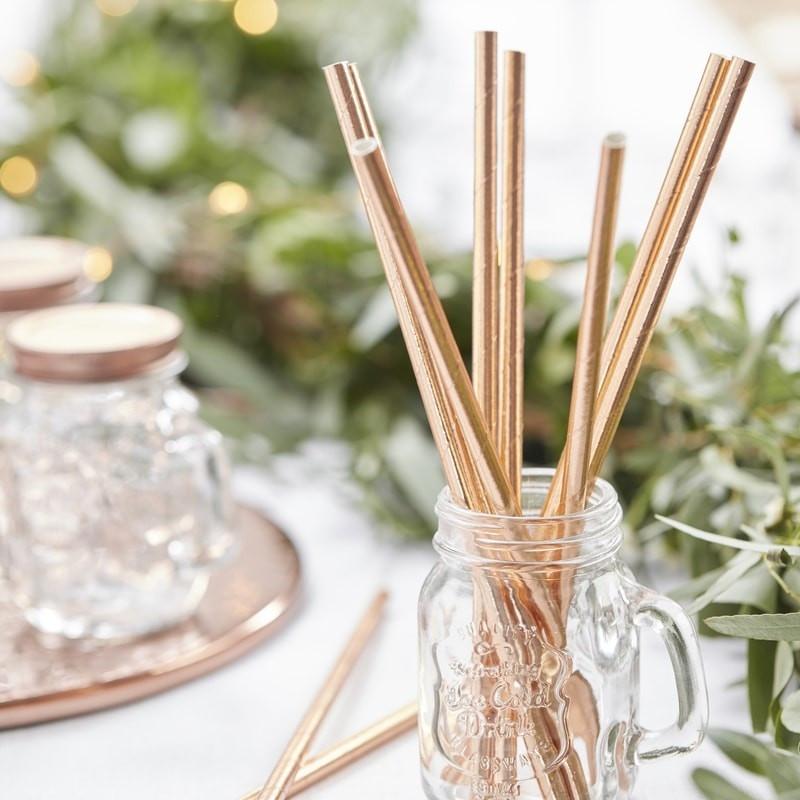 Pailles Rose Gold - Rose Gold straws