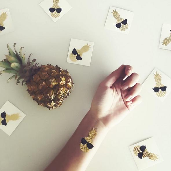 Tatouage éphémère Ananas sur poignet
