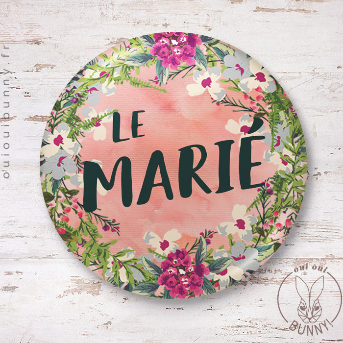 Badge épingle Le Marié