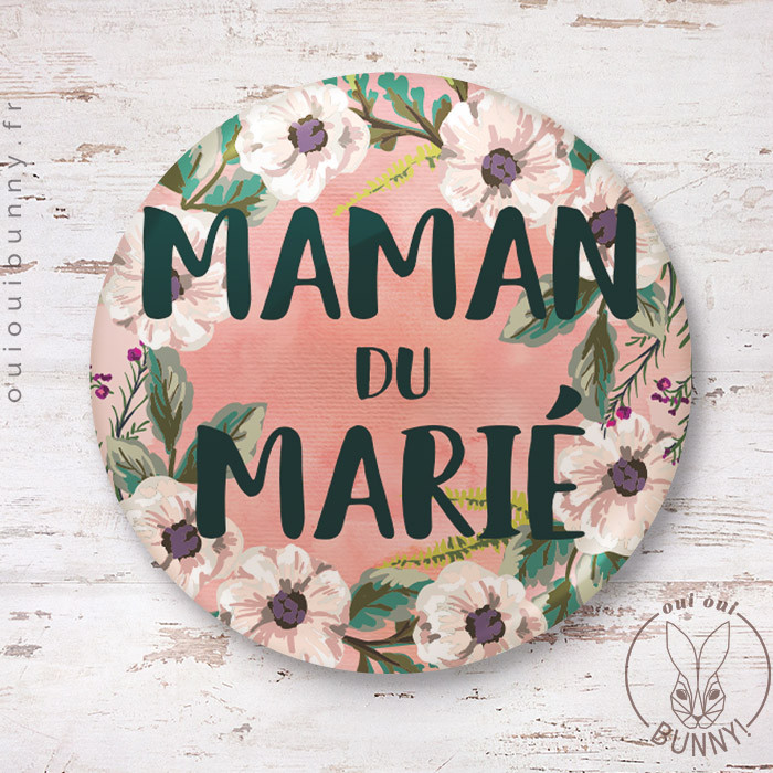 Badge épingle Maman du Marié