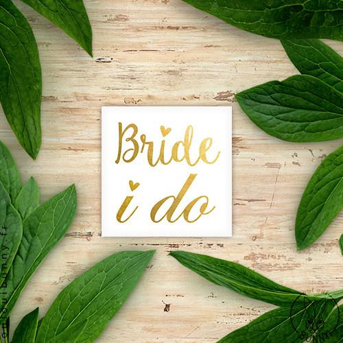 Tatoo Bride I do doré pour EVJF