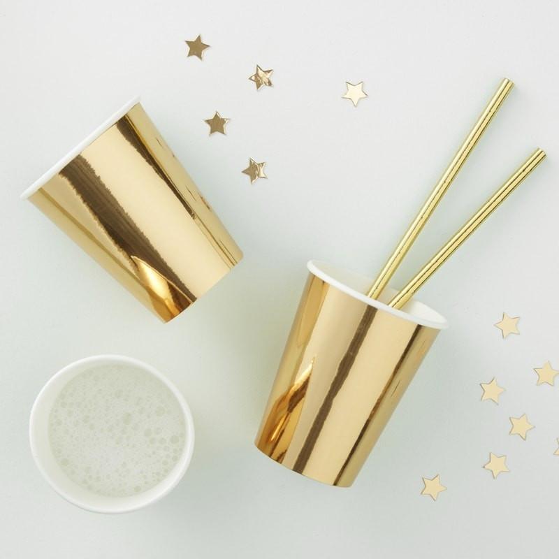Gobelets en carton doré