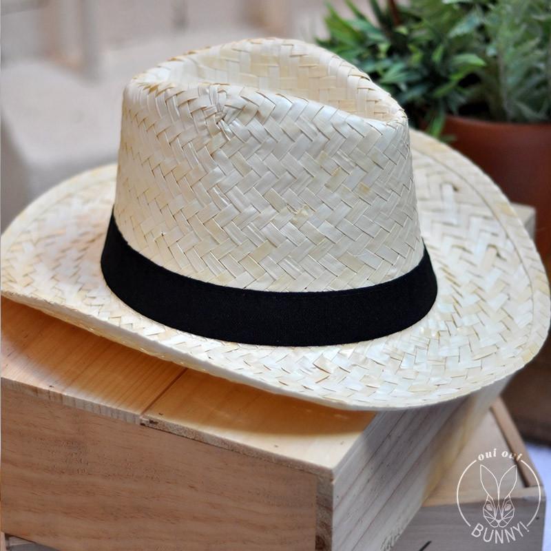 très convoité gamme de nouveau style convient aux hommes/femmes Chapeau Panama avec bandeau Noir cousu