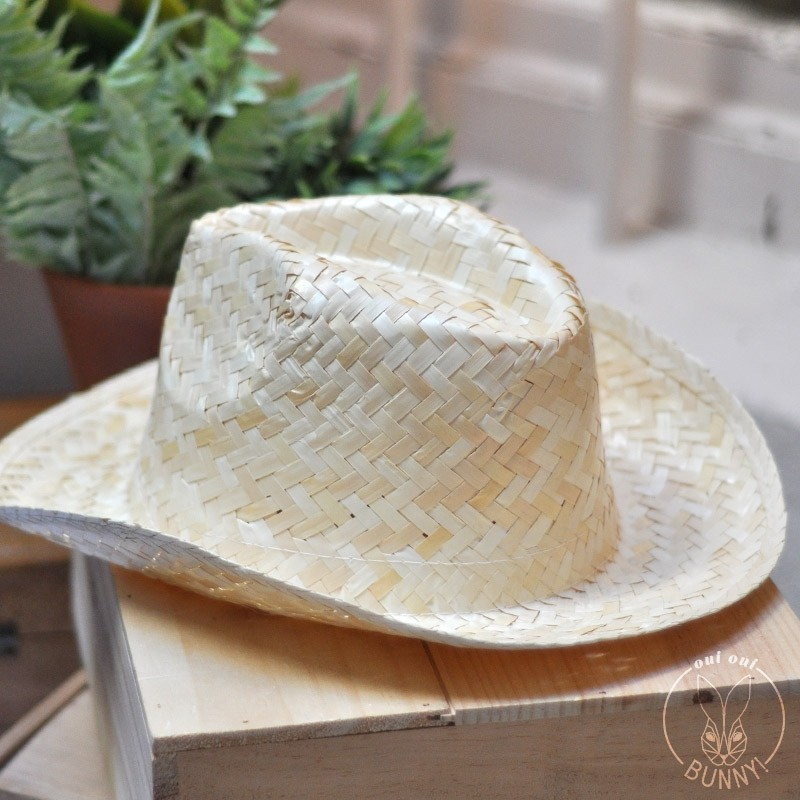 Chapeau de paille blanche Panama sans ceinture