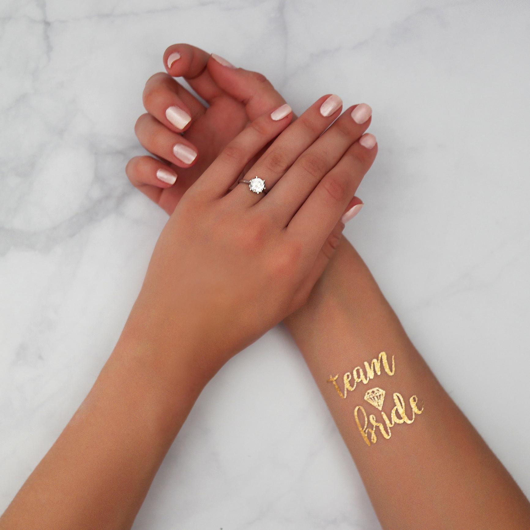 Tatouage Ephemere Team Bride Avec Diamant Oui Oui Bunny Mariage