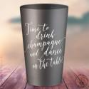 """Gobelets personnalisés """"Time to Drink Champagne"""" Argentés"""