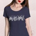 T-Shirt Appelez-moi Madame Bleu marine
