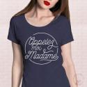 T-Shirt Appelez-moi Madame rond - Bleu
