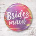 Badge aquarelle sunset Bridesmaid