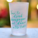 """Gobelets personnalisés """"Time to Drink Champagne"""" Givrés"""