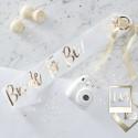 Echarpe Bride to Be blanche pour EVJF
