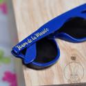 Lunettes de soleil Team de la Mariée Bleu Royal, inscription Or