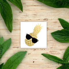 Tatouage éphémère Ananas