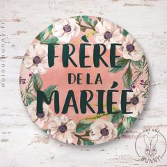 Badge épingle Fleuri Frère de la Mariée