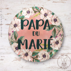 Badge épingle Papa du Marié
