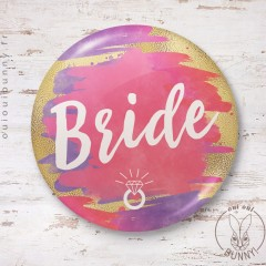 Badge aquarelle sunset Bride