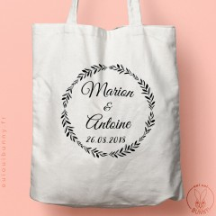 Tote-bag personnalisable Olivier pour mariage