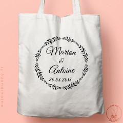 Tote-bag personnalisable Olivier pour mariage