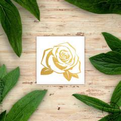 Tatouage temporaire doré Fleur Rose