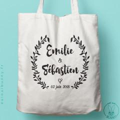 Tote-bag personnalisable Rustique pour mariage
