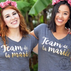 T-shirt Team de la Mariée Gris