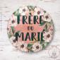 Badge Fleuri Frère du Marié