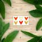 Tatouage temporaire Cœurs Dorés et Rouges